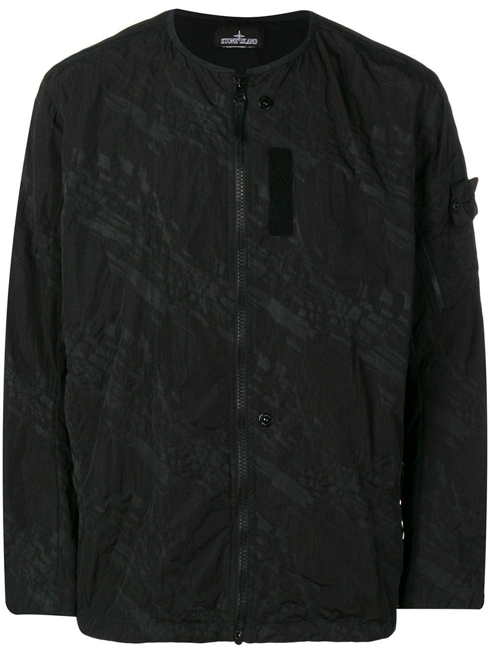 3a59fa7f6 Stone Island Shadow Project front zip lightweight jacket - Black in ...