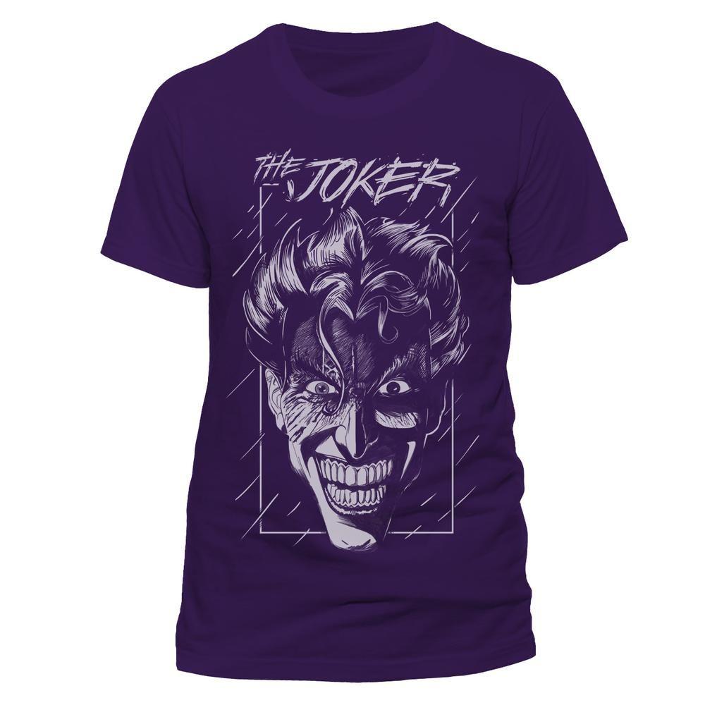 DC Comics Batman - The Joker heren unisex T-shirt paars - Superhelden