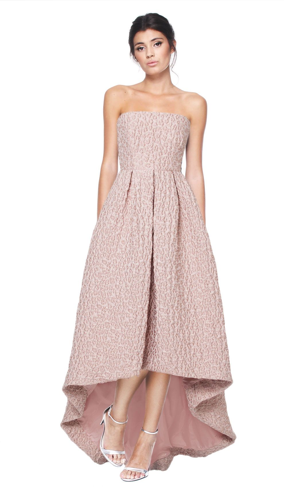 Strapless dusty rose dress hire cynthia rowley front high hire a dress with gorgeous jacquard detail in this dusty rose colour that will make you the best dressed guest this season hire bridesmaid dresses or s ombrellifo Images