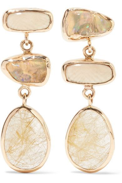 14-karat Gold Multi-stone Earrings - one size Melissa Joy Manning V8xRroVZ