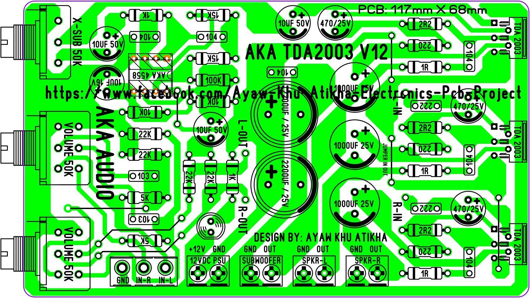 Aka Tda2003 Car Amp New Design Ayaw Khu Atikha In 2019 News Class B Audio Amplifier 15w By Ne5532 Transistor