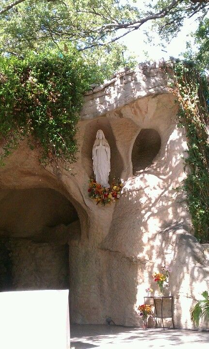 Our Lady Of Lourdes Grotto In San Antonio Photo By D Canon Lourdes Grotto Catholic Shrines Marian Shrines