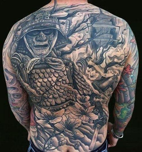Ghost warrior japanese tattoo back japanese tattoo for Japanese war tattoos