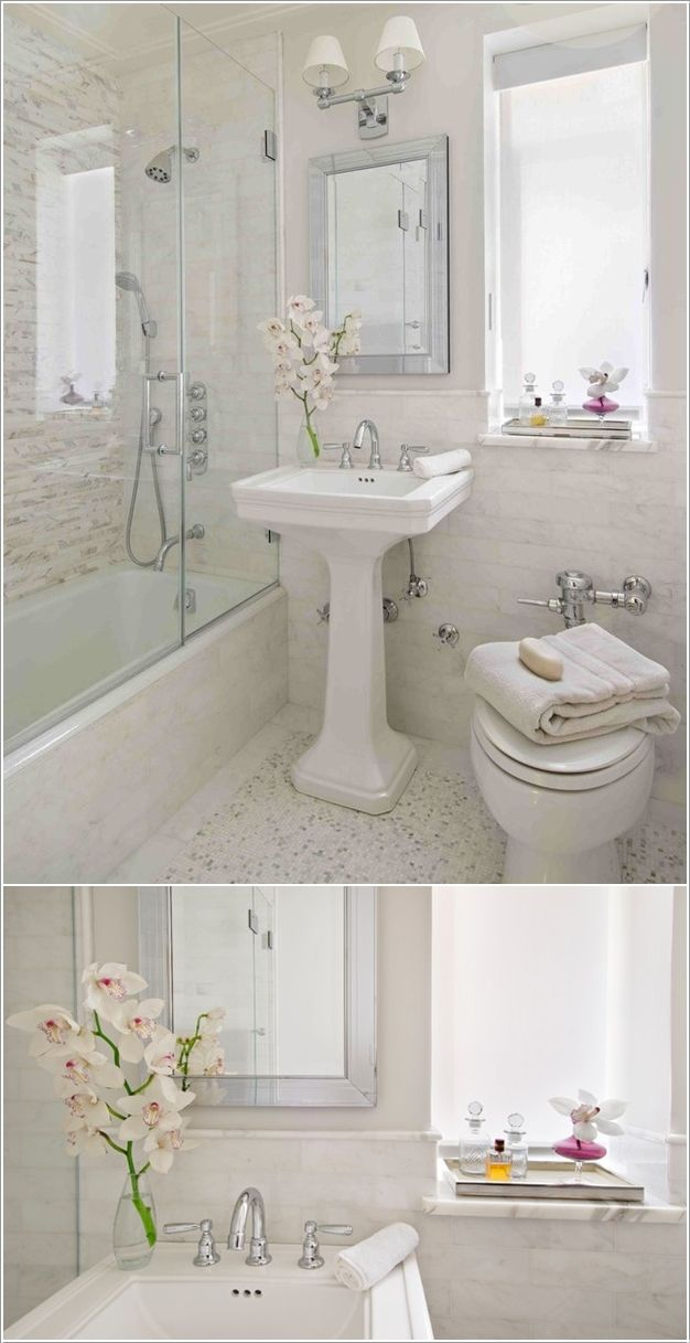 little bathroom i love white beautiful bathrooms pinterest rh pinterest com