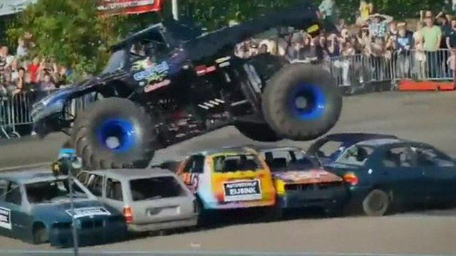 Netherlands 'monster truck' crash kills three at show -This is so sad. The audience was much closer and there was much less of a barrier between them and the trucks than shows I have been to. I wonder if that will change now.-SRH