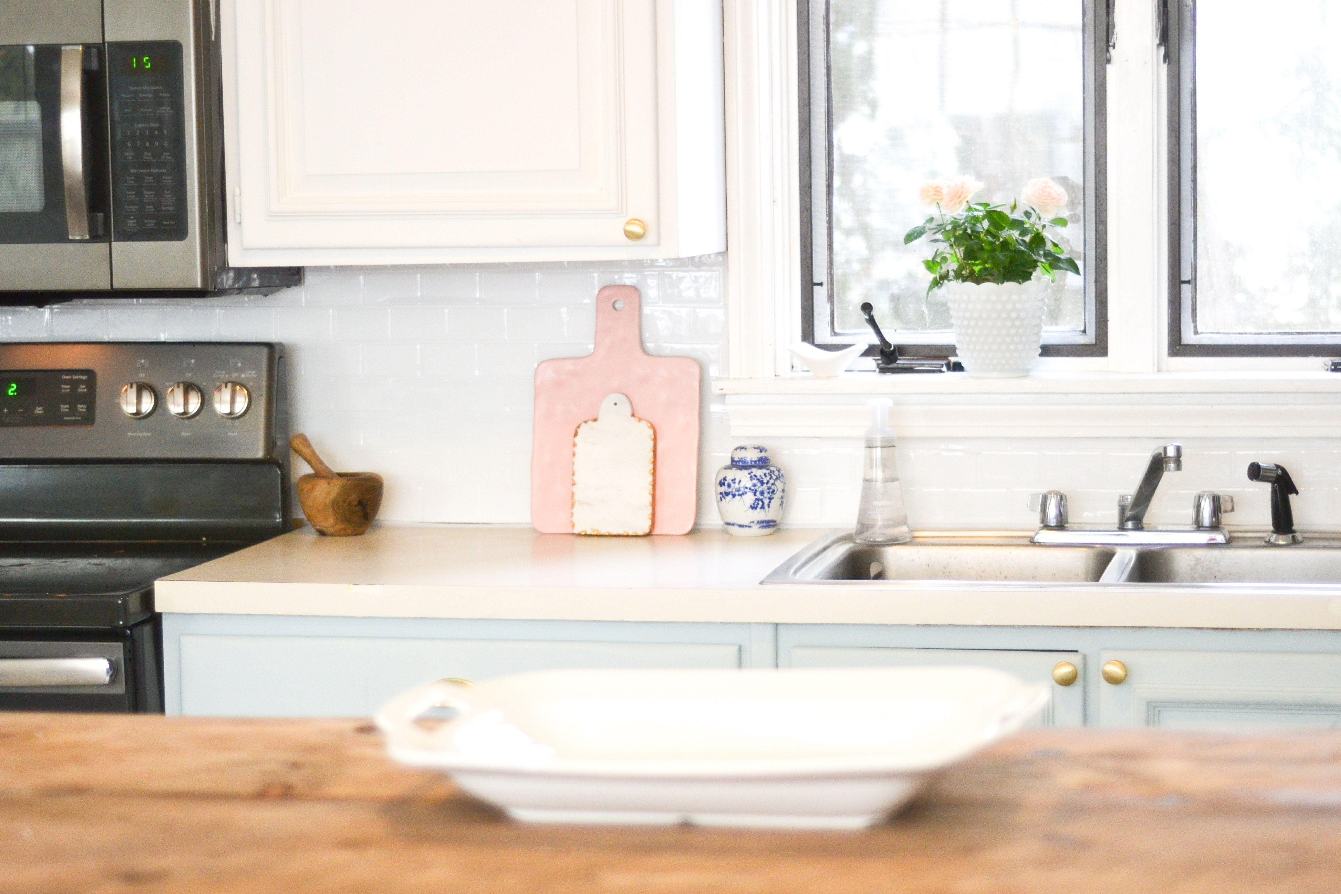 peel and stick kitchen backsplash diy kitchen reno progress rh pinterest com