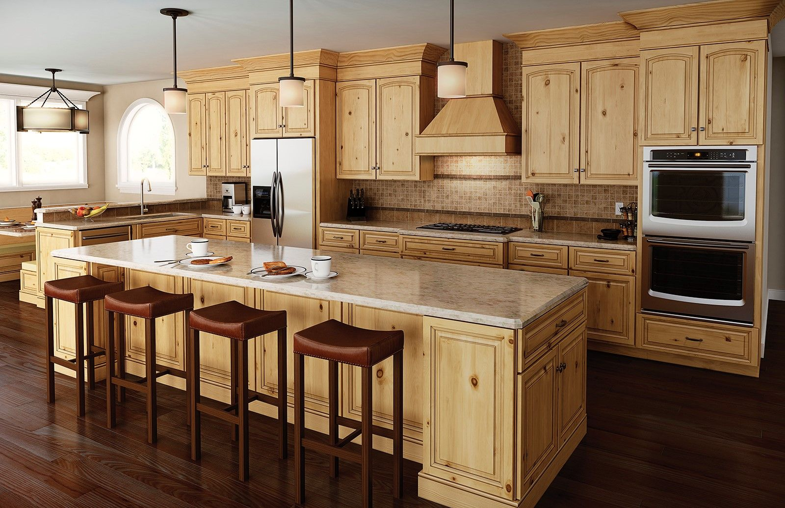 images of kitchen cabinets in natural rustic birch ...