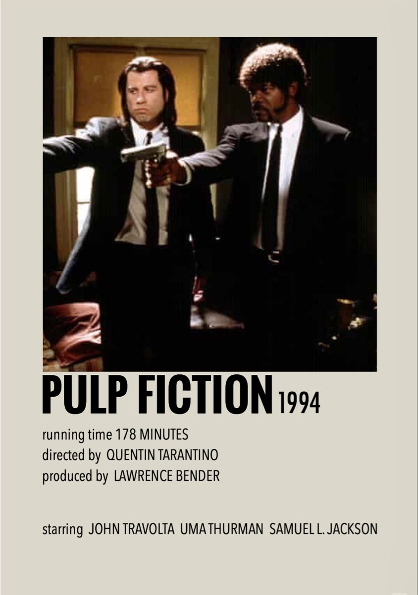 Pulp Fiction By Millie Film Posters Minimalist Movie Prints Aesthetic Movies