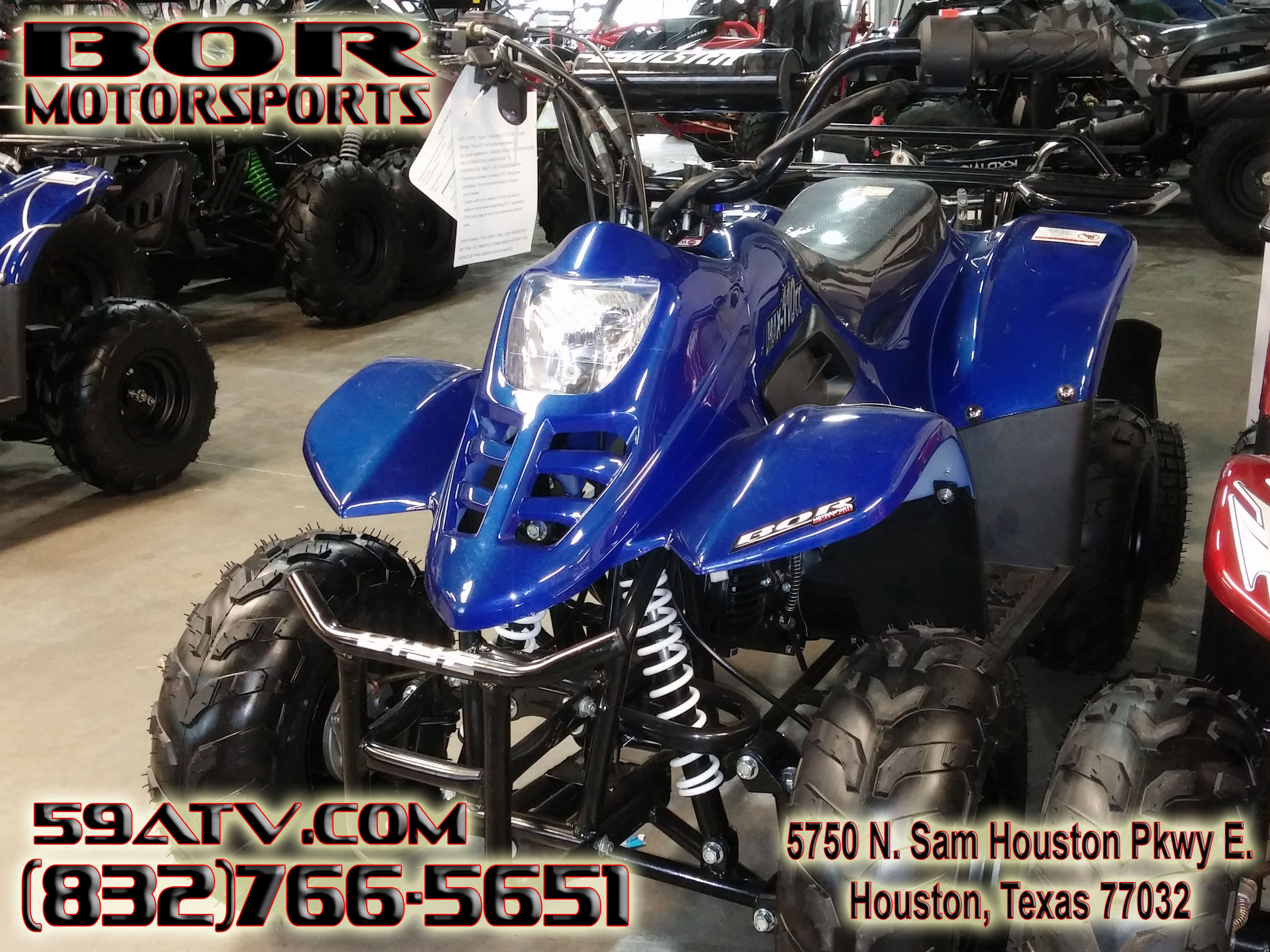 Solid Blue 110cc Kids 4 Wheeler. This Kids ATV comes complete with ...