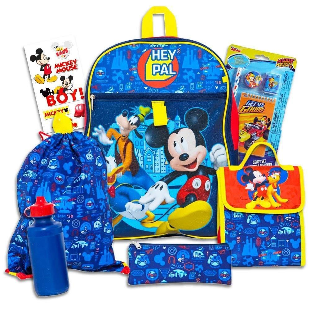 """Disney Mickey Mouse 10/"""" Canvas X-Small Toddler School Backpack"""