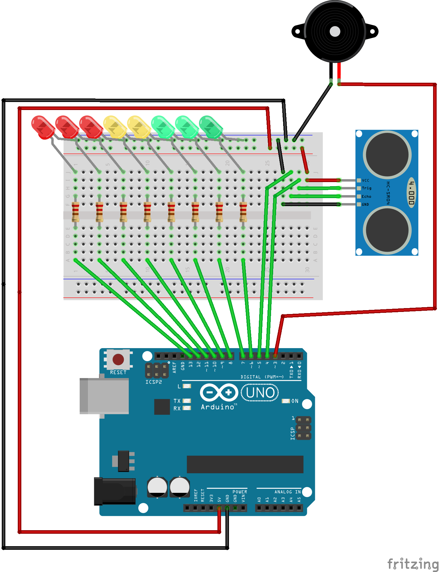 Fritzing Diagram Of Ultrasonic Theremin Electronica Pinterest Converter Circuit Board Pcb Sensor Buy Arduino Projects Workshop Technology