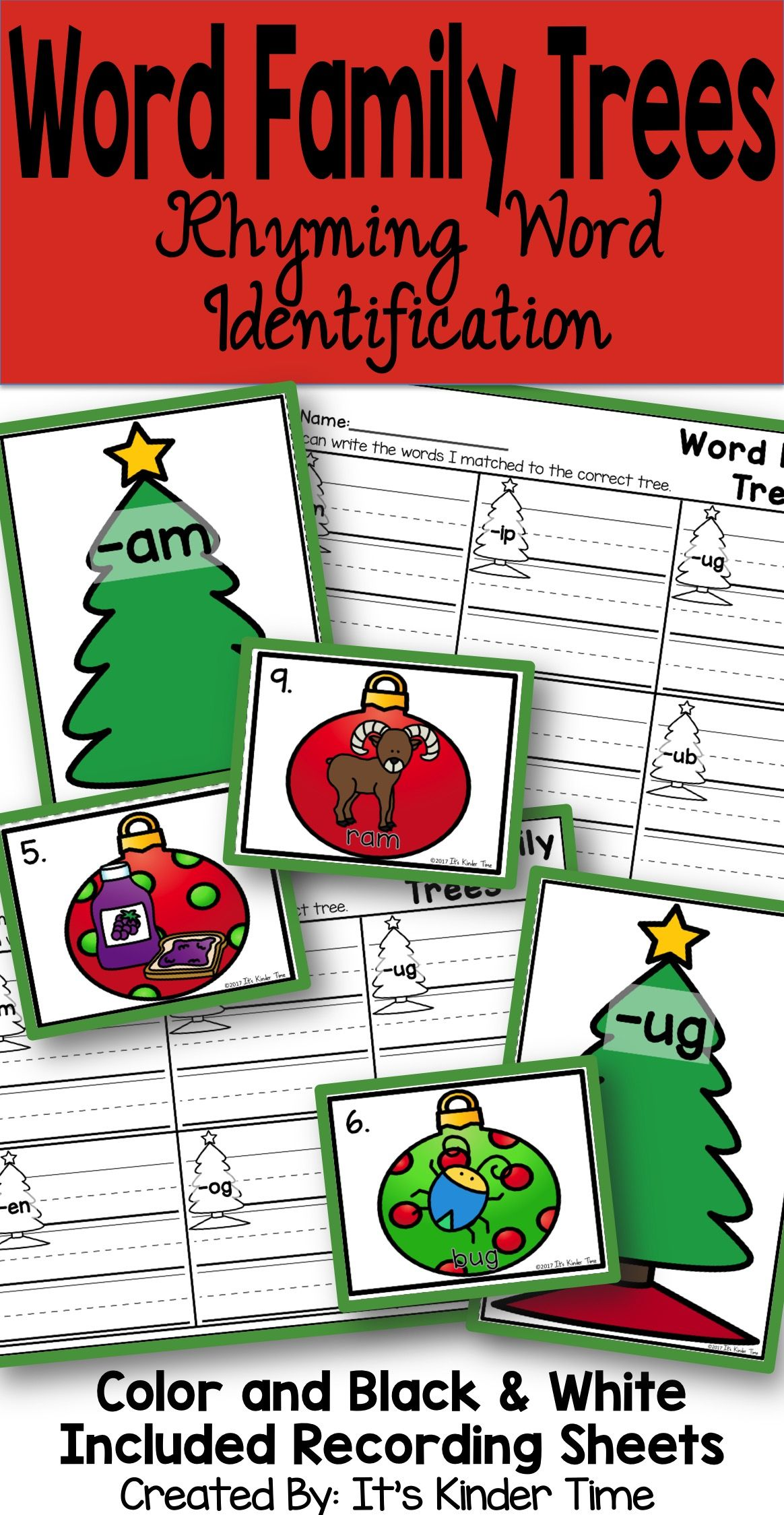 Word Family Trees - Rhyming Word Identification | Pinterest | Group ...