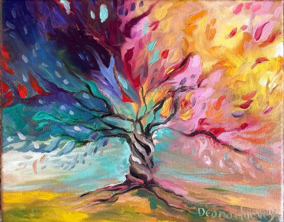 "Tree of Life Oil on Canvas 8x10"", 12x12"" and 14x14"" in 2020 