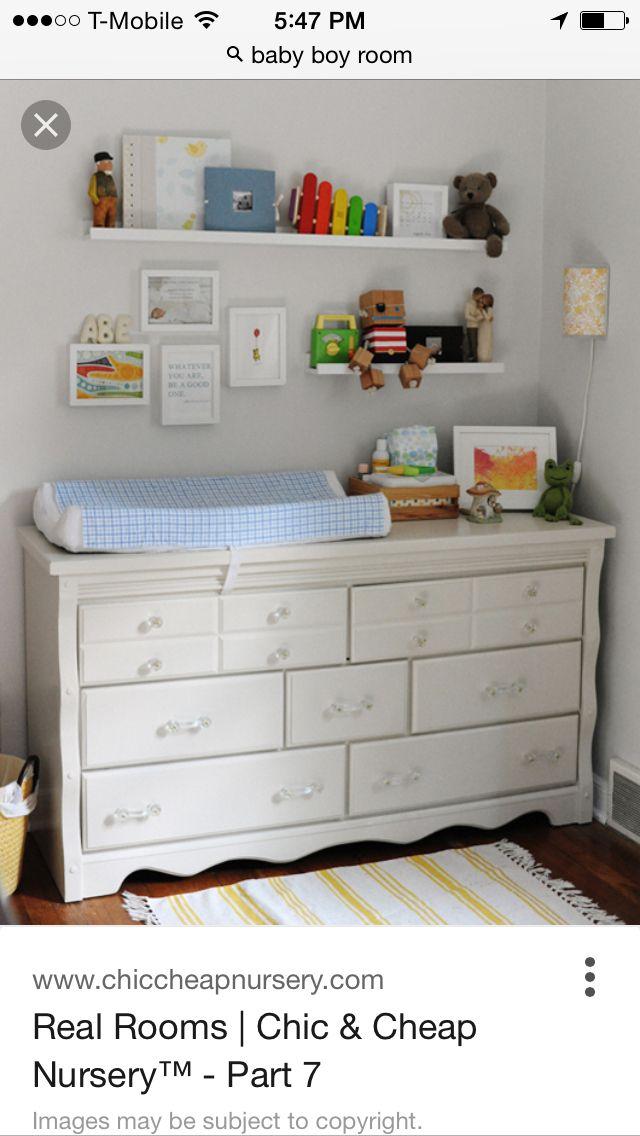 love the floating shelves above dresser what to do for baby boys rh pinterest com