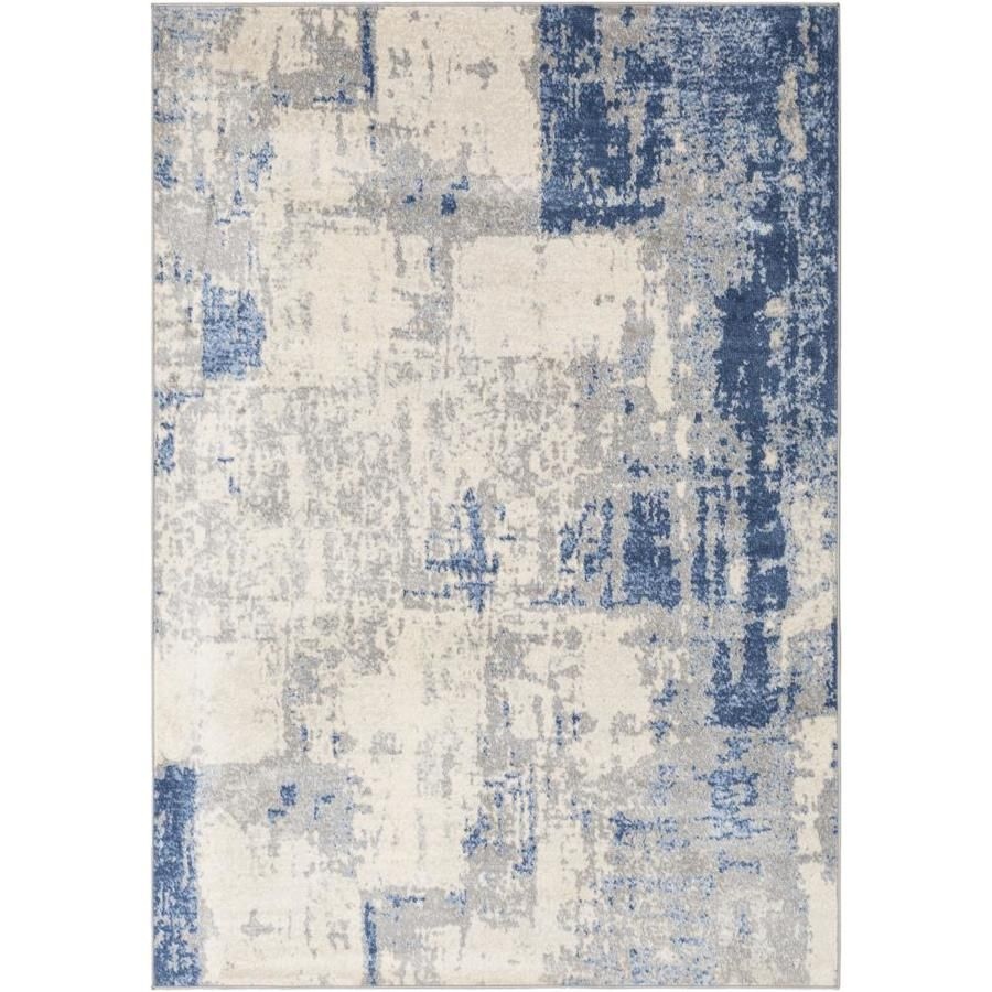 Surya Monaco 8 X 10 Navy Indoor Abstract Industrial Area Rug Lowes Com In 2020 Grey Area Rug Industrial Area Rugs Abstract Rug