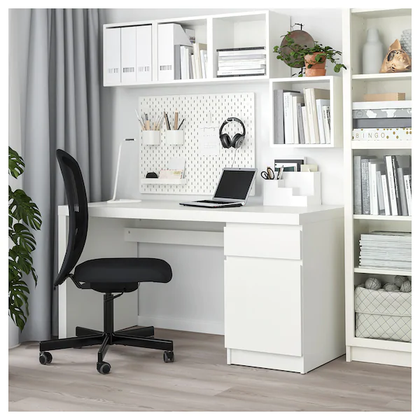 "MALM Desk, white, 55 1/8x25 5/8"" - IKEA"