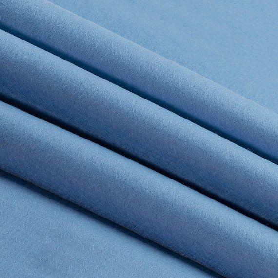 100 Wool Felt By The Yard Sky Blue 72 Wide X 1 Yd X 1 2mm