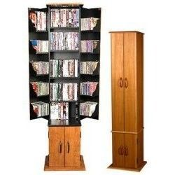 "Media Tower - Multimedia Storage (Oak/Black) (68""..."