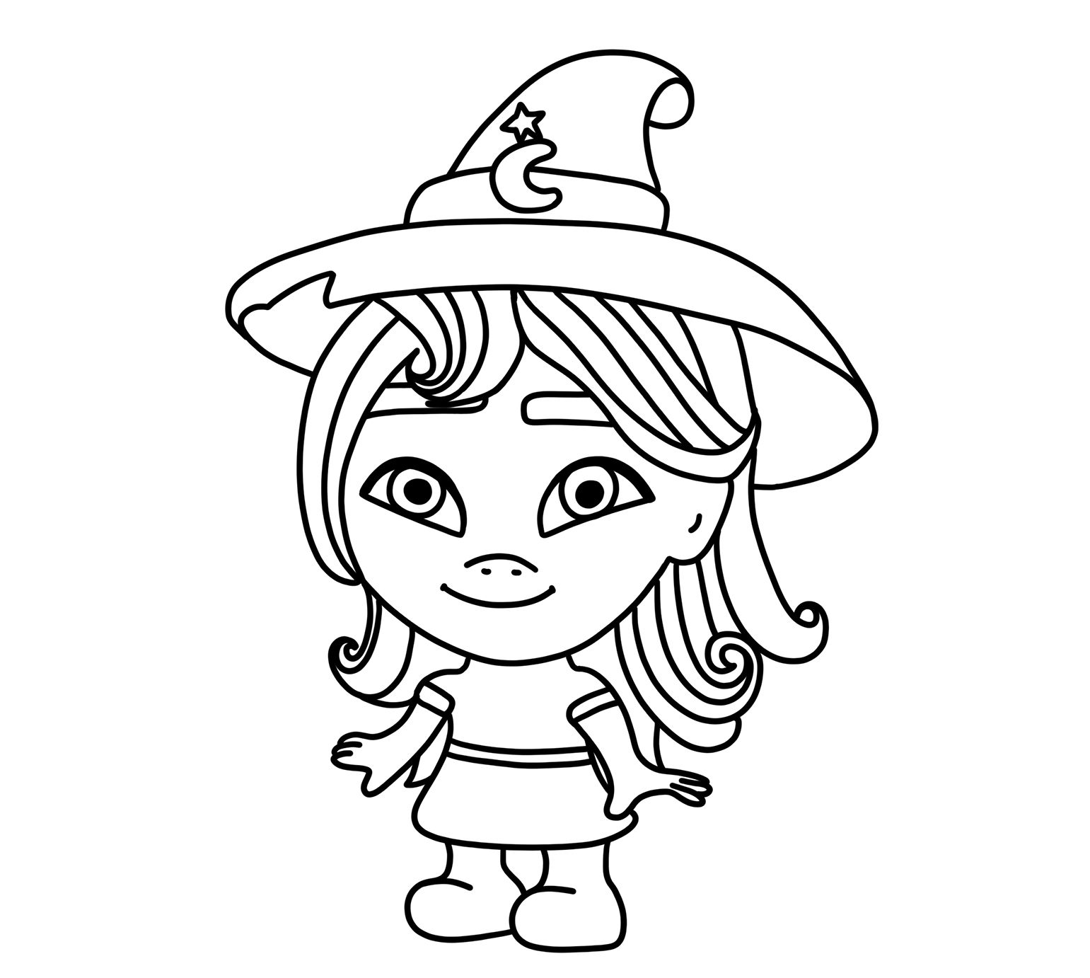 Super monsters coloring pages free - Little witch Katya ...
