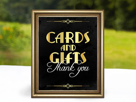 Cards and gifts sign. Printable Wedding by PartyGraphix on Etsy