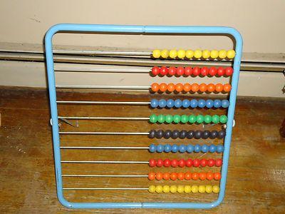 Large Standing Vintage Wood Metal Abacus Boys 39 Room