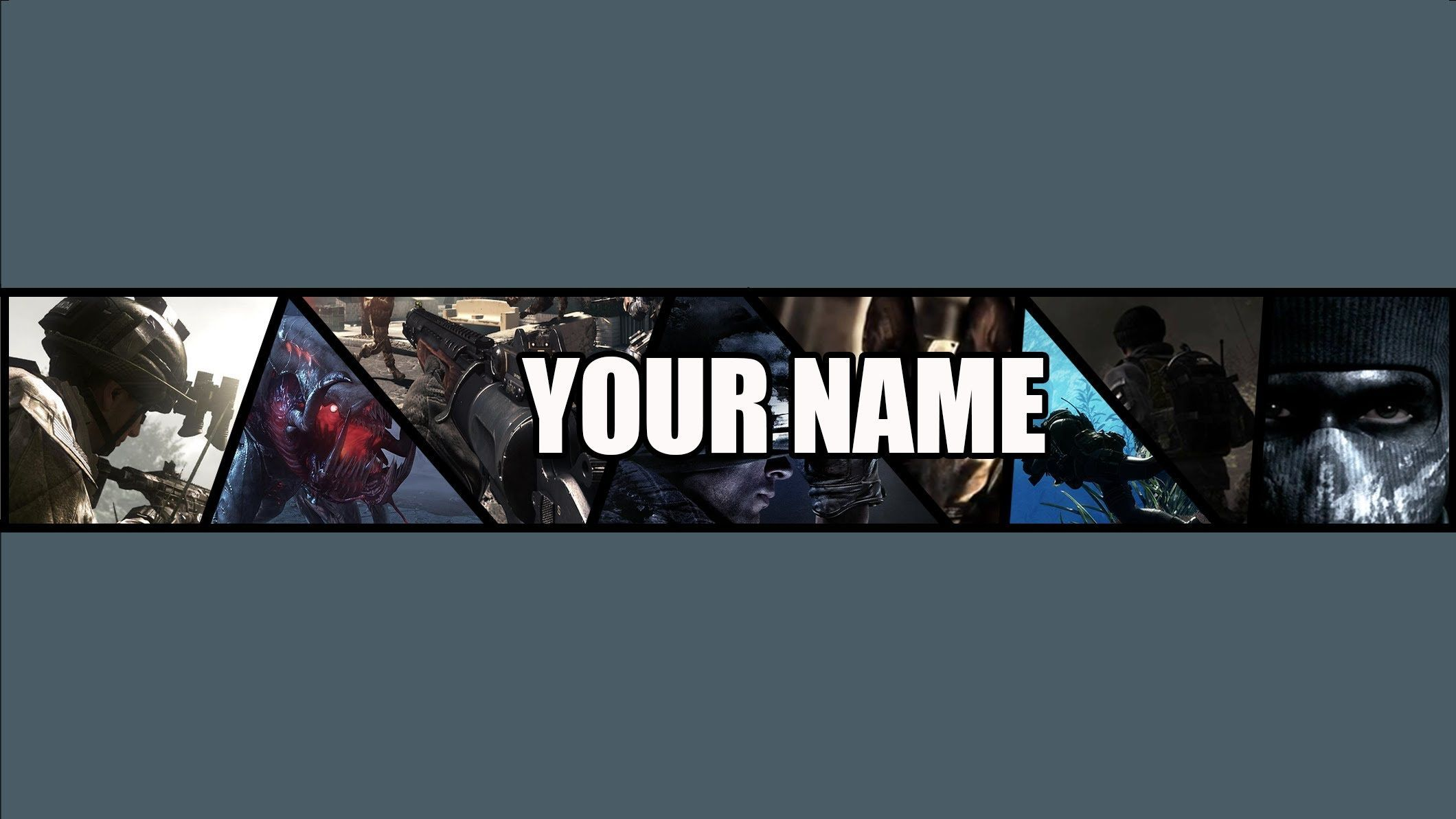 FREE Call of Duty Ghosts YouTube Banner Template (BY ME