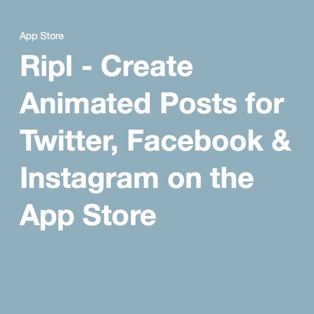 Ripl - Create Animated Posts for Twitter, Facebook & Instagram on the App Store.... for phone... good for making 5 sec video post of homes...