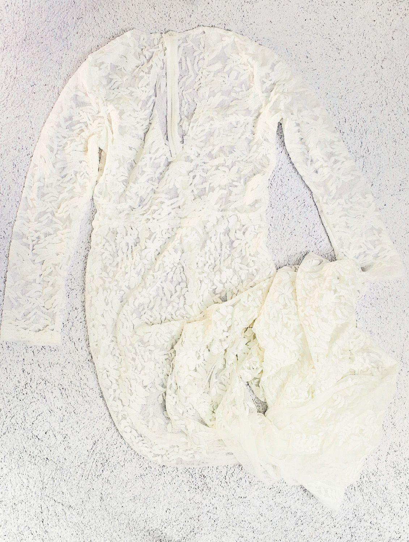 Long lace long sleeve dress boudoir wardrobe