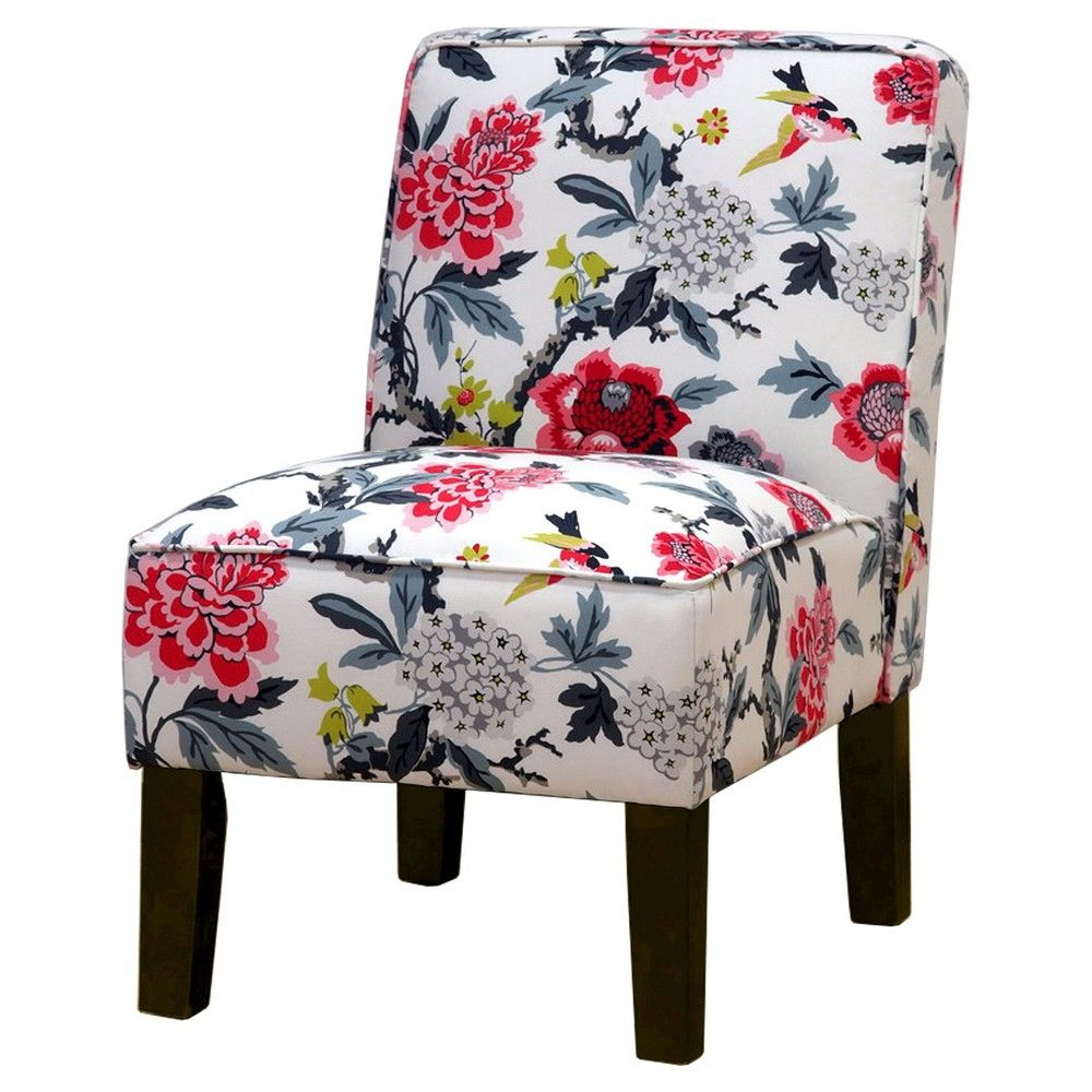 burke accent print slipper chair candid moment ebony products rh pinterest com au