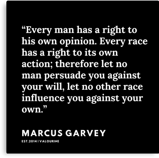 62 | Marcus Garvey | Marcus Garvey Quotes | 200615 | Black Excellence Canvas Print by QuotesGalore