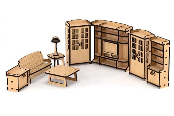 set of furniture living room for a venetian house wood dollhouse rh pinterest com