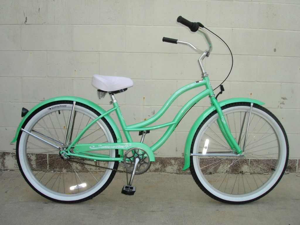 green retro beach cruiser bike | shopping list | Pinterest | Bikes ...