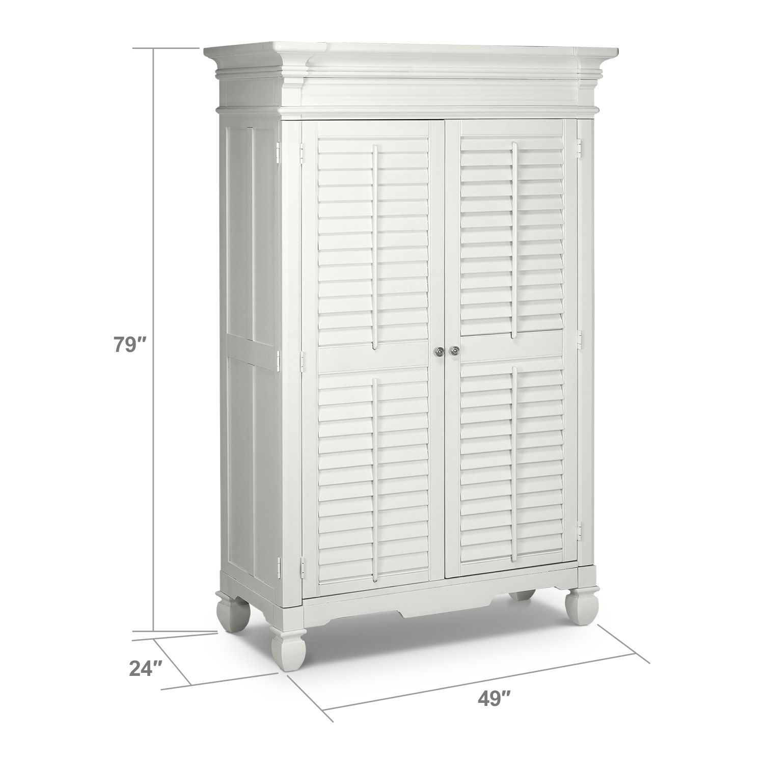 Charmant Ainsleyu0027s Room: Plantation Cove White Bedroom Armoire   Value City Furniture