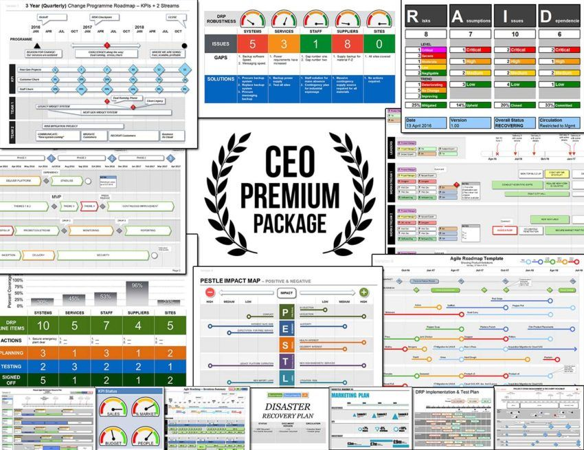 All Templates in 1 Bundle The CEO Premium Package