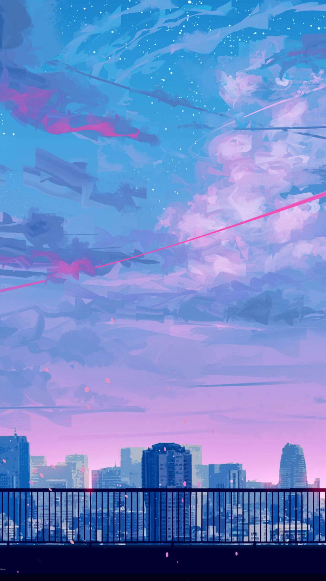 Lets Go Home Cityscape Bicycle Ride Sunset Clouds Art 1080x1920 Wallpaper Anime Scenery Wallpaper Scenery Wallpaper Aesthetic Wallpapers
