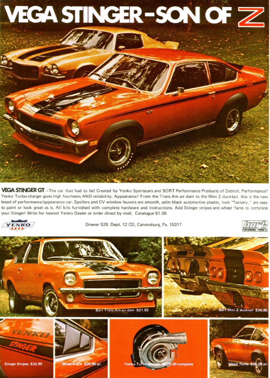 Chevy Vega Stinger Muscle Car Ads Muscle Cars Classic Cars