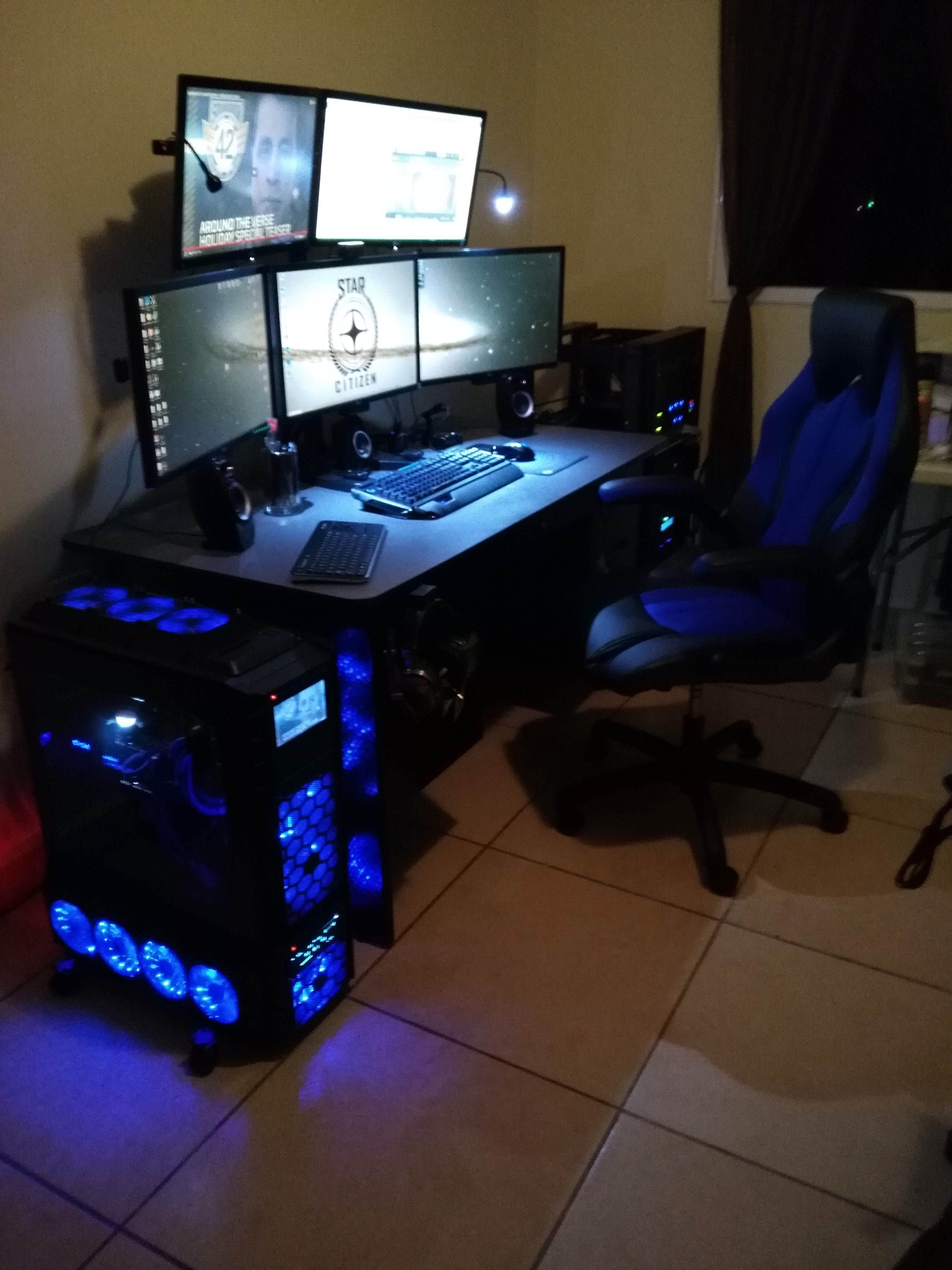 diy computer desk ideas gaming desk gaming desk setup gaming rh pinterest com