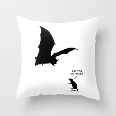 Angel Throw Pillow by Mobii | Pillows