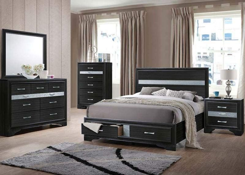 Best Acme Furniture Naima 6 Piece Queen Bedroom Set 25900Q 640 x 480