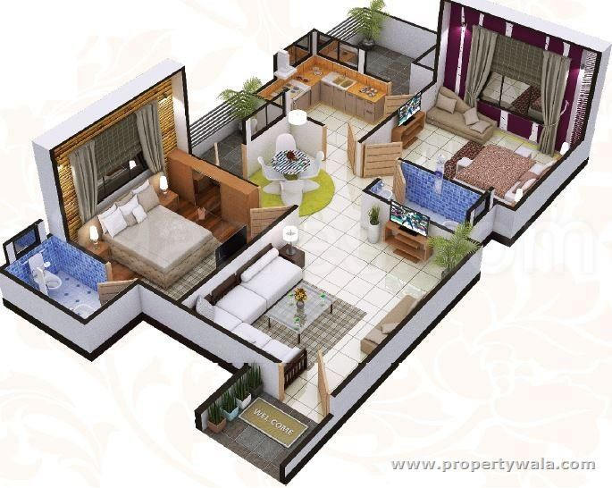 interior design india small apartment interior design online interior design projects 3d house designs for 900 sq ft in india - Google Search