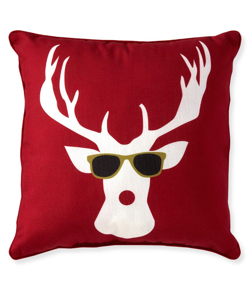 Aeropostale  Cool Moose Throw Pillow - Red, One from Aéropostale