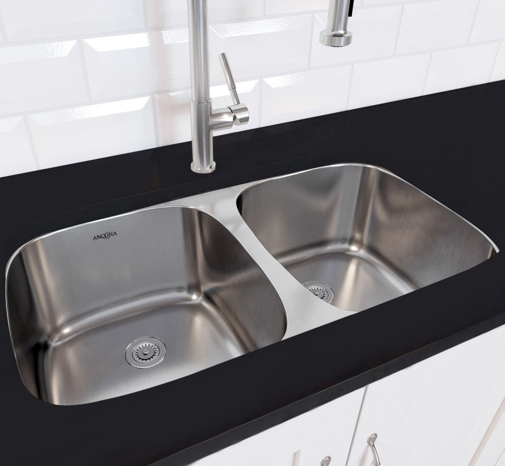 sterling 11444 plumbing kitchen sink faucets sink double rh pinterest com