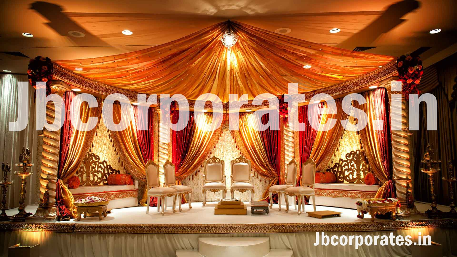 wedding stage decoration pics%0A Posts about orange mandap on Indian Weddings by Soma Sengupta Decorations