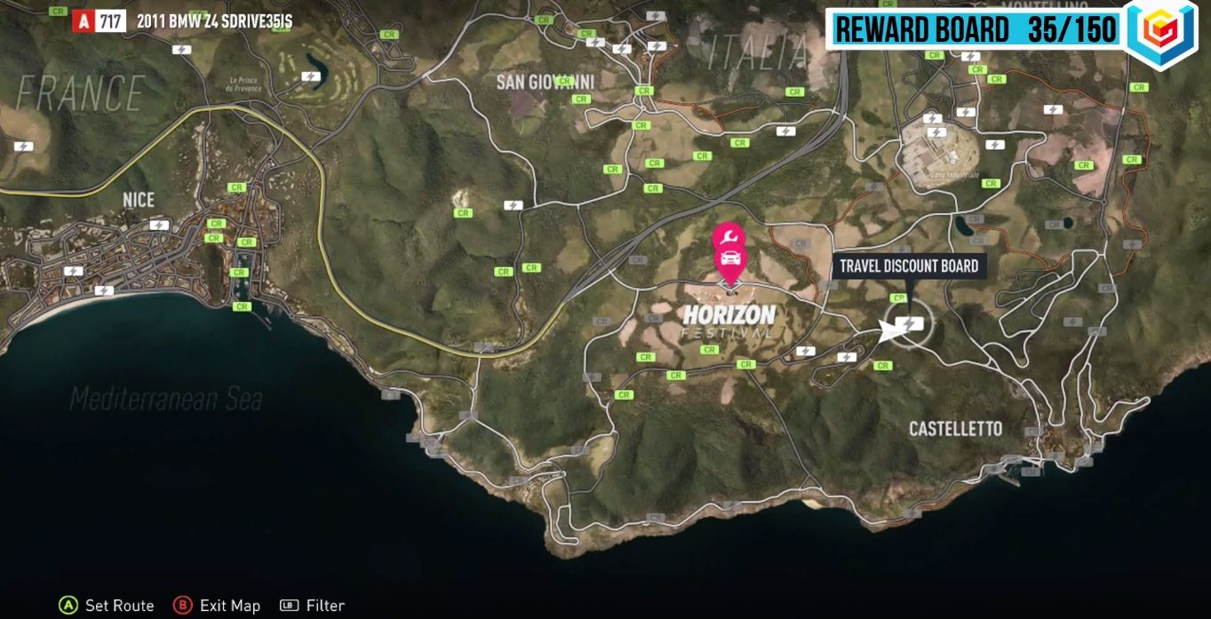Forza Horizon 2 Castelletto Reward Boards Locations Guide – VGFAQ