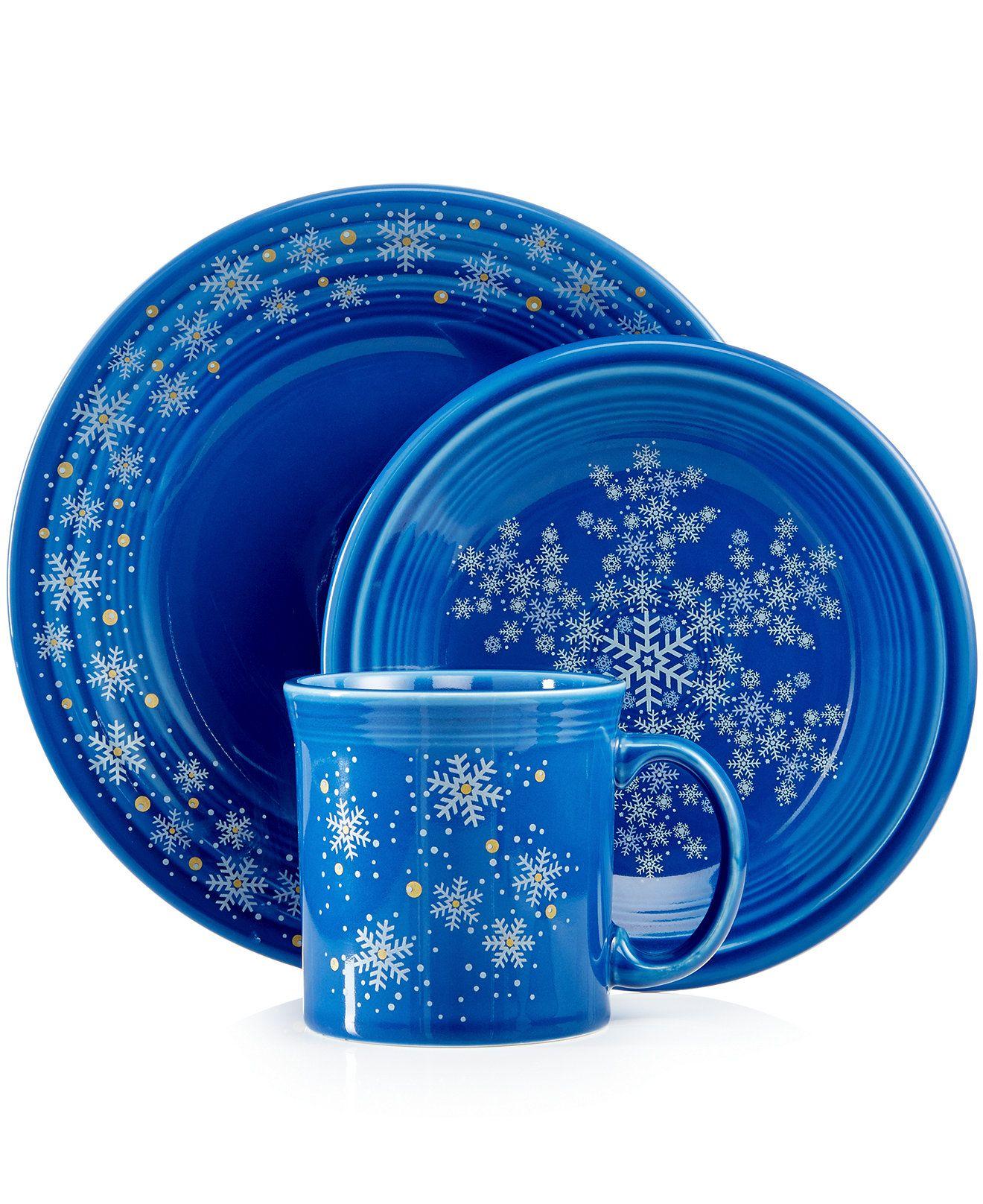 D❤️Fiesta Macy\u0027s Exclusive Snowflake Collection - Dinnerware - Dining \u0026 Entertaining - Macy\u0027s  sc 1 st  Pinterest & Fiesta Macy\u0027s Exclusive Snowflake Collection - Fiesta - Dining ...