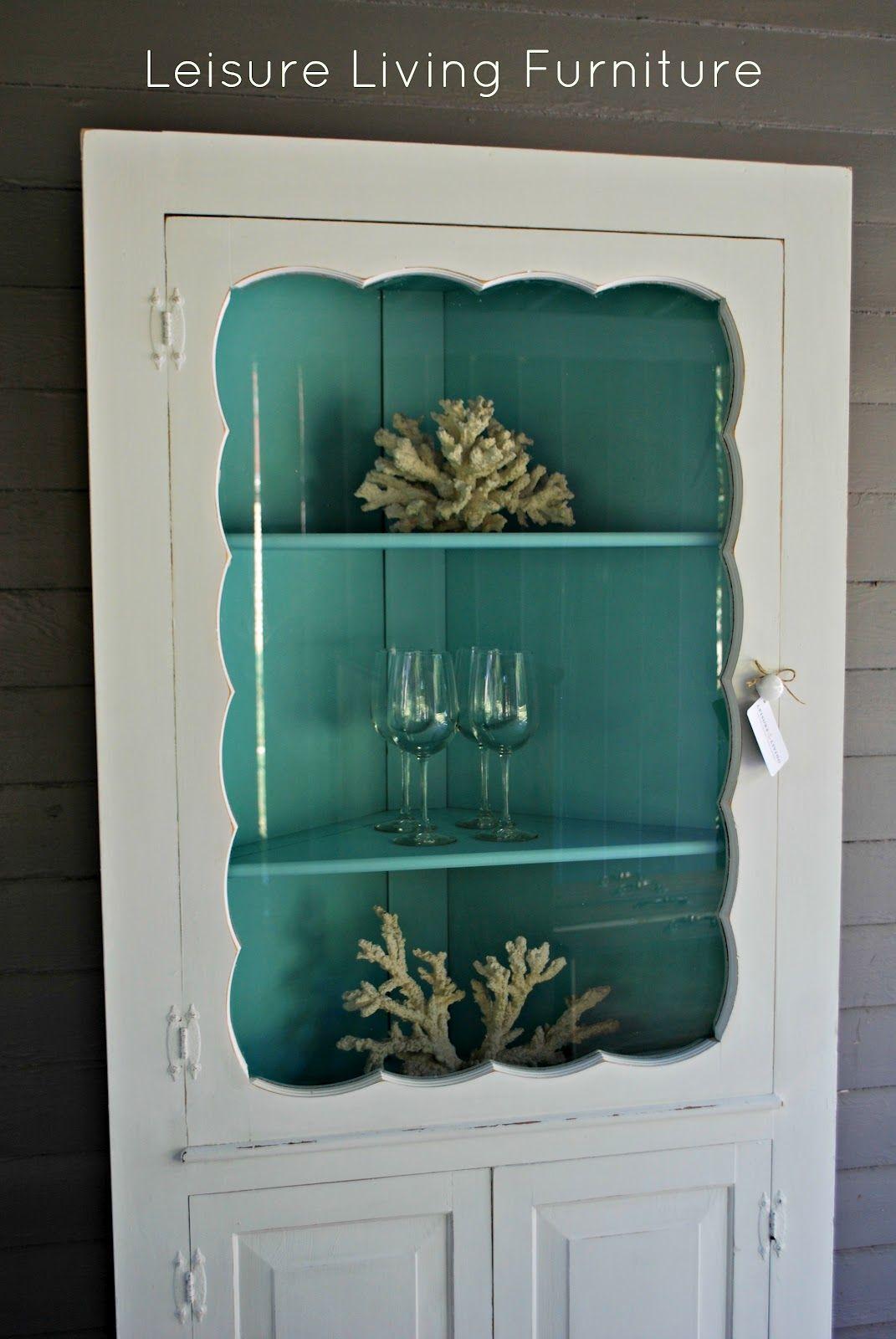 leisure living: Farmhouse Corner Cabinet | Repainting Furniture ...