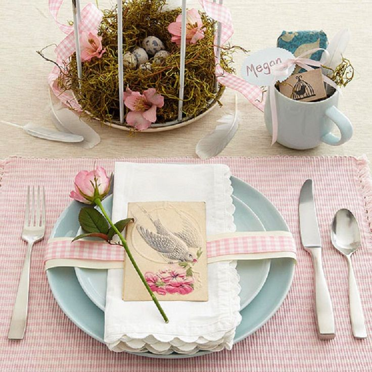 7 most beautiful diy easter table decorations easter crafts rh pinterest com