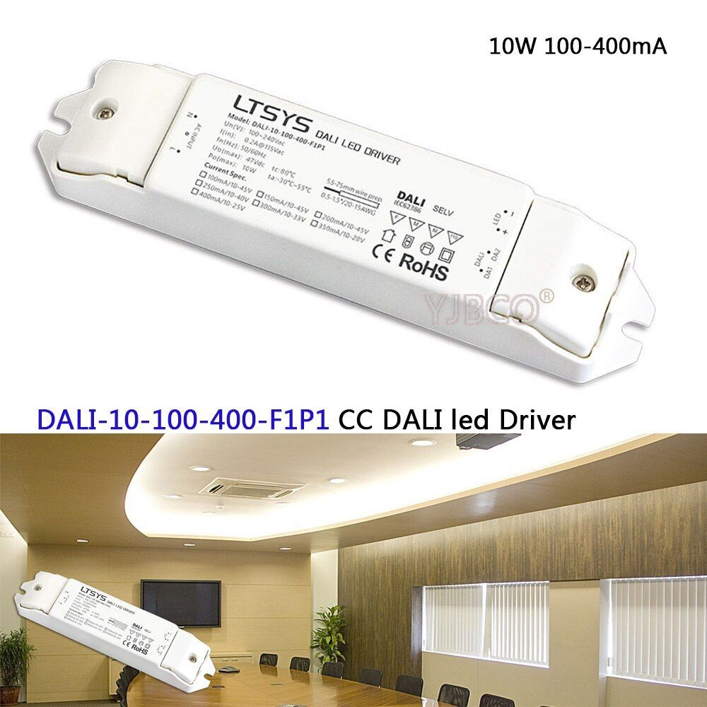 Constant Current Dimmer Driver Dali 10 100 400 F1p1 Ac100 240v Input Dc10 45v Output 10w 100 400ma Cc Dali Le Light Accessories Led Drivers Inflatable Bean Bag