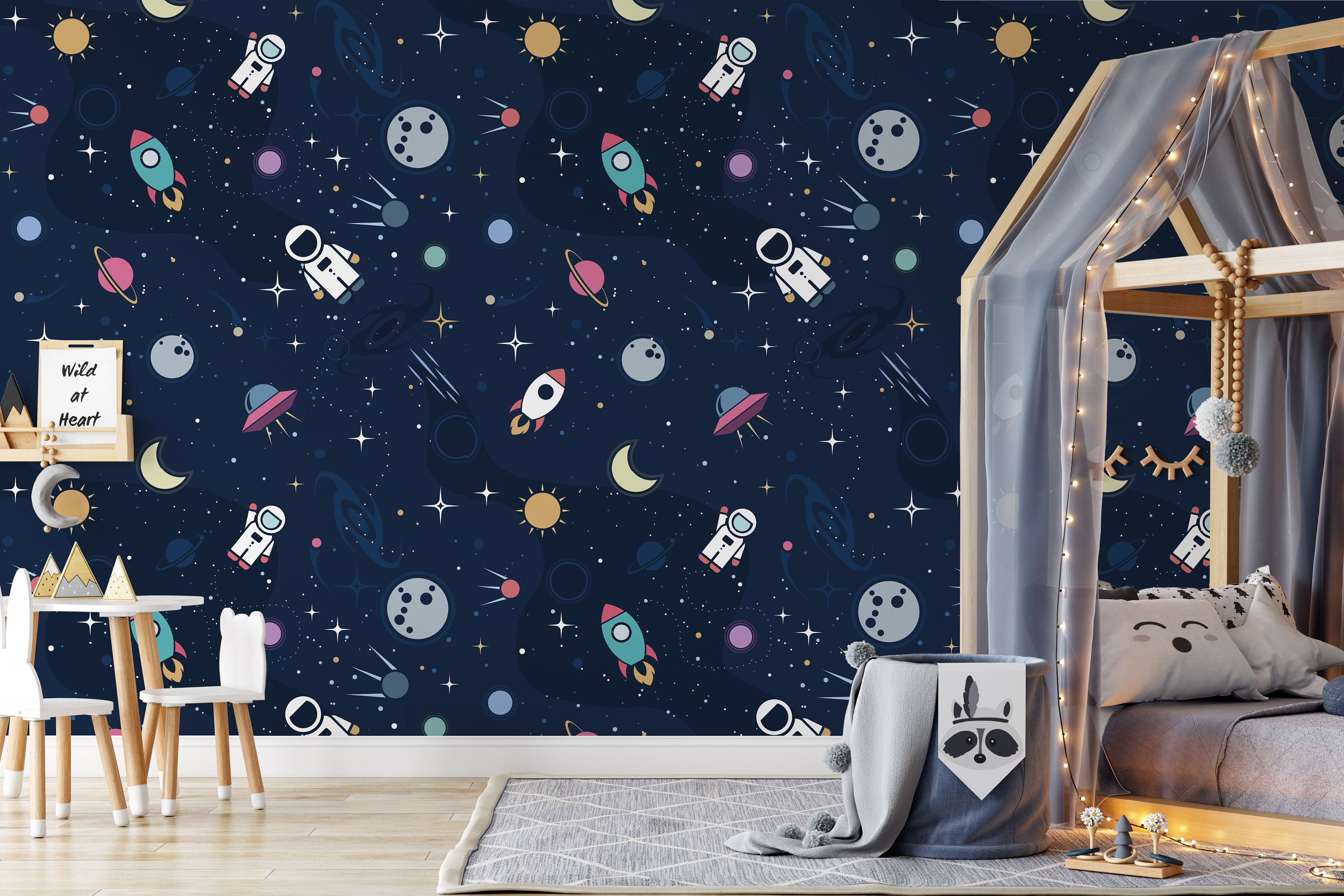 Astronaut Spaceship Rocket Moon Black Hole Funny Wallpaper | Etsy
