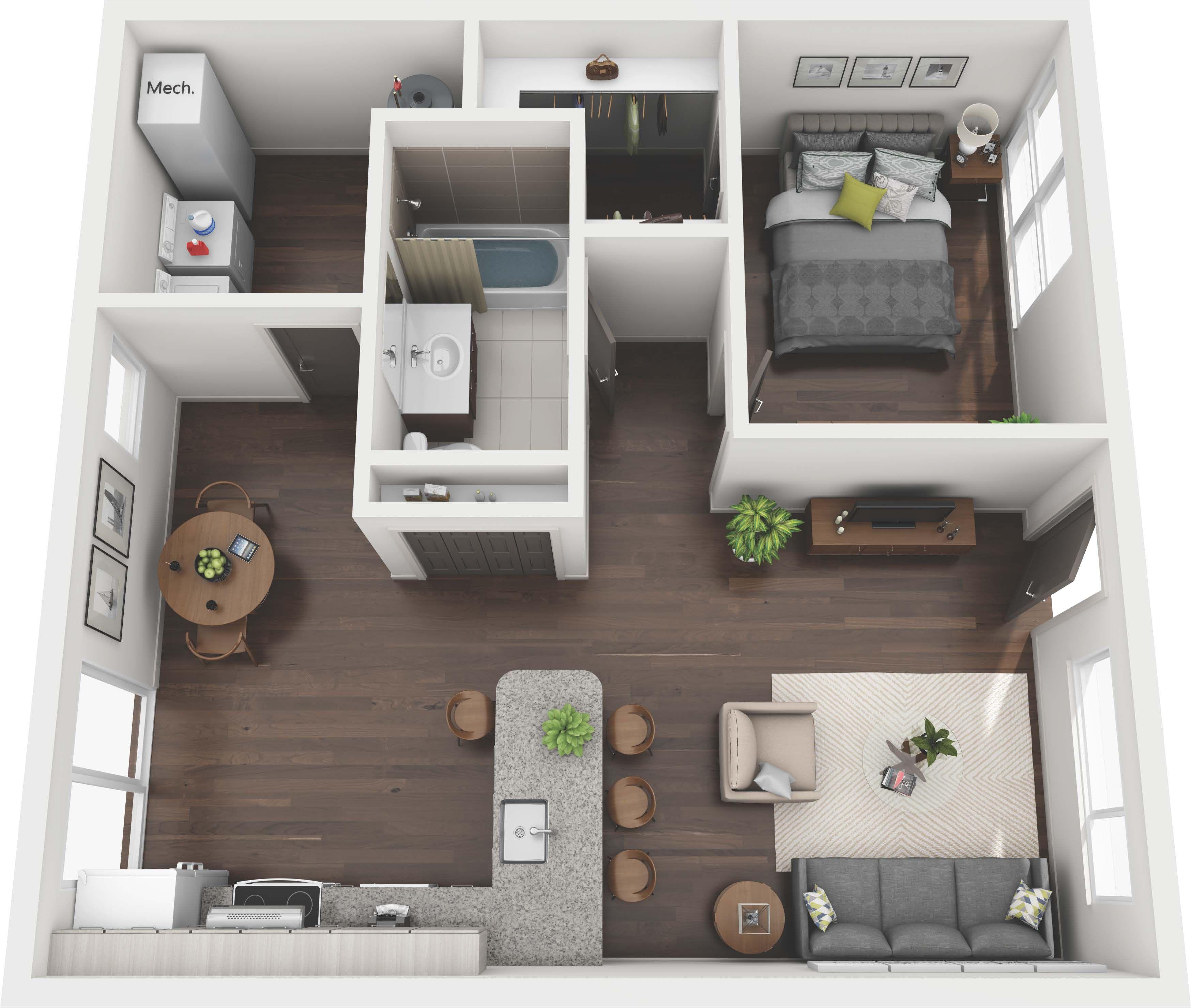 Ansley Forest Floor Plans Studio 1 2 3 Bedroom Atlanta